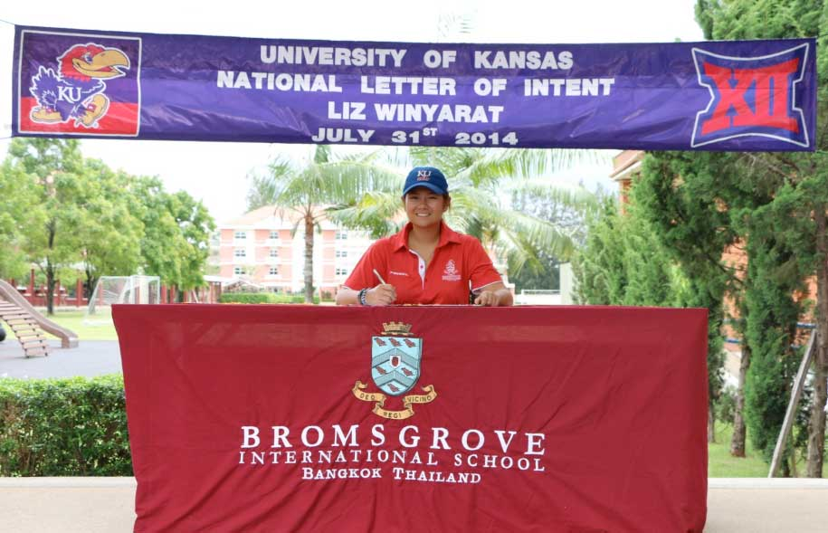 Liz has secured her University place at Kansas USA