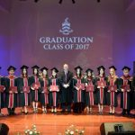 BIST students on the stage for the graduation ceremony